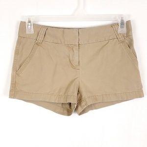 J Crew Khaki Classic Twill City Fit Shorts G28